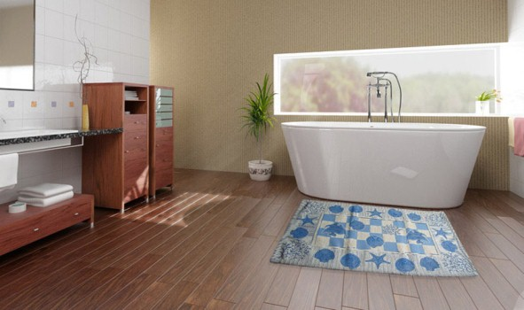 Tappeti sotto letto idee per il design della casa - Tappeti bagno design ...