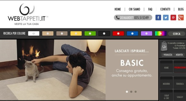 Webtappeti Homepage
