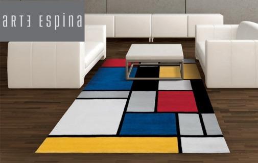 tappeto casa design disegno mondrian
