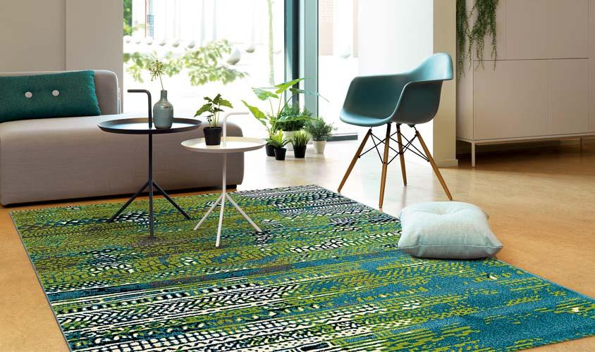 tappeti Arte Espina verde azzurro