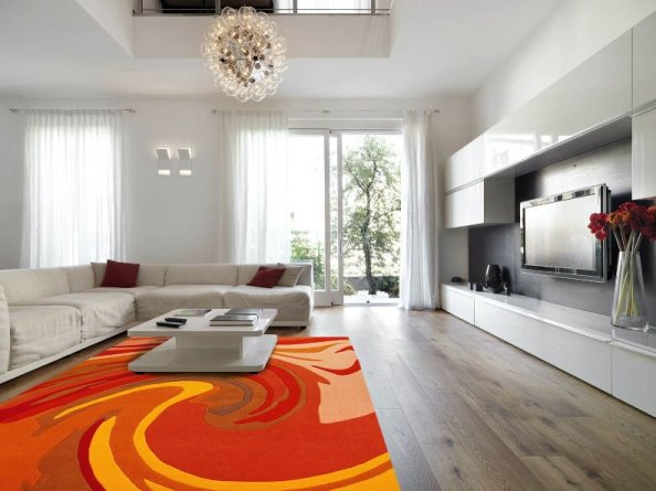 tappeti giallo arancio