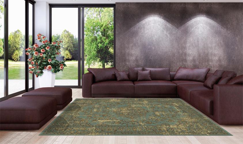 tappeto orientale turchese