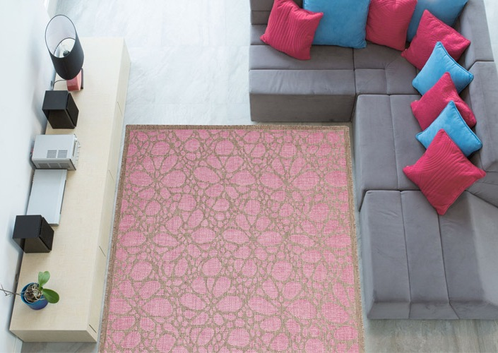 tappeti color rosa indoor outdoor