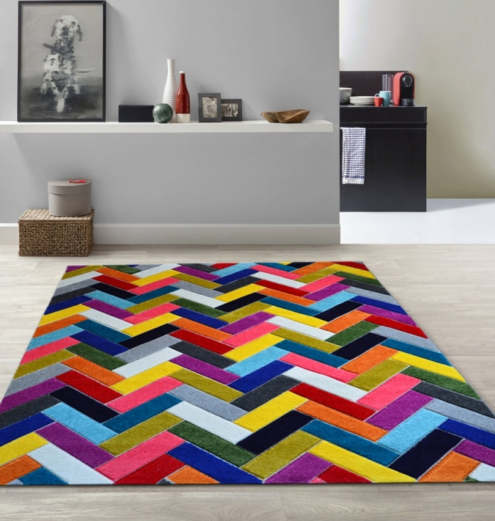 Tappeti colorati arredo