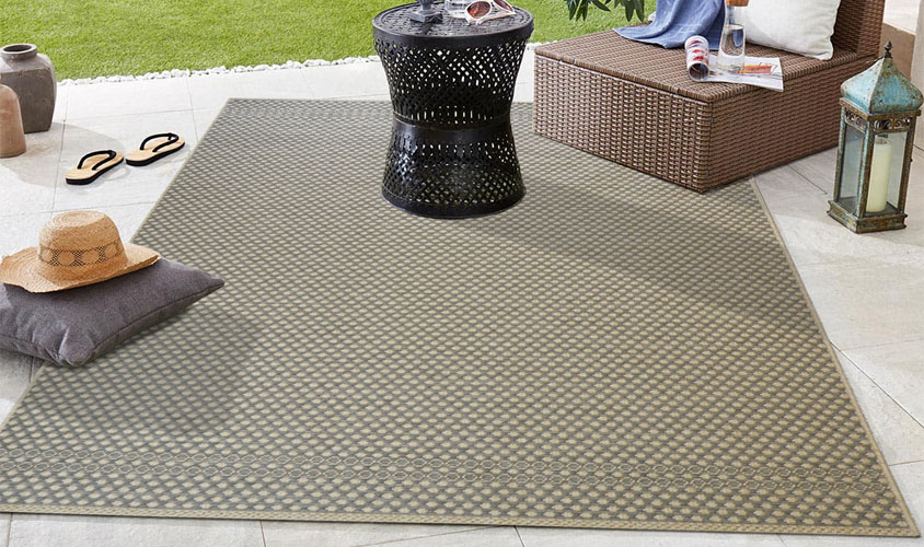 Tappeto outdoor grigio