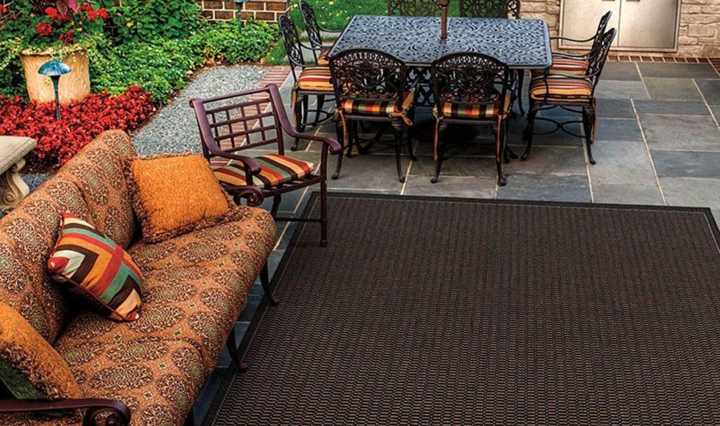 tappeto outdoor esterni nero