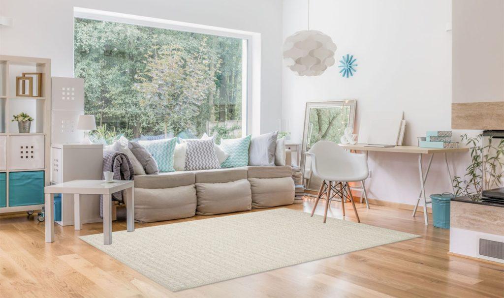 tappeto per ufficio stile scandinavo