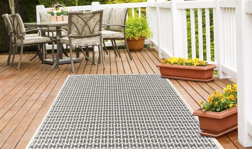 tappeto terrazzo color ecru
